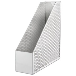 Urban Collection Punched Metal Magazine File, White