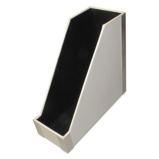 Artistic Architect Line Magazine File 4 x 9 3/4 x 9 White/Silver