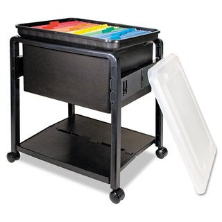 Advantus Folding Mobile File Cart 14-1/2-inch wide x 18-1/2-inch deep x 21-3/4h Clear/Black