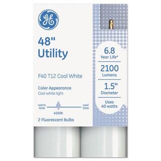 GE T12 Fluorescent Utility Bulb 40 Watts 48-inch x 1.6-inch Cool White 18/Carton