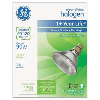 GE Energy-Efficient Halogen Bulb 90 Watts Crisp White