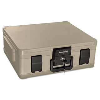 SureSeal By FireKing Fire and Waterproof Chest 0.38 ft3 19-9/10-inch wide x 17-inch deep x 7-3/10h Taupe