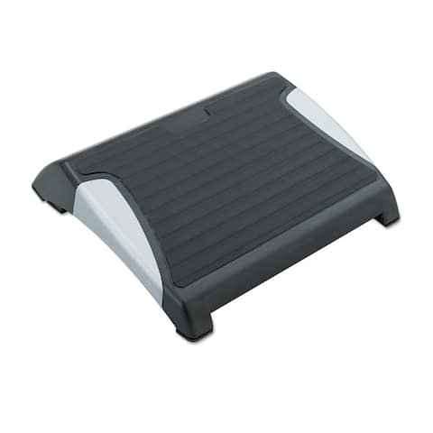Safco Restease Adjustable Footrest 15-1/2-inch wide x 13-3/4-inch deep x 3-1/4 to 5-inch high Black/Silver