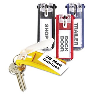 Durable Key Tags for Locking Key Cabinets Plastic 1 1/8 x 2 3/4 Assorted 24/Pack