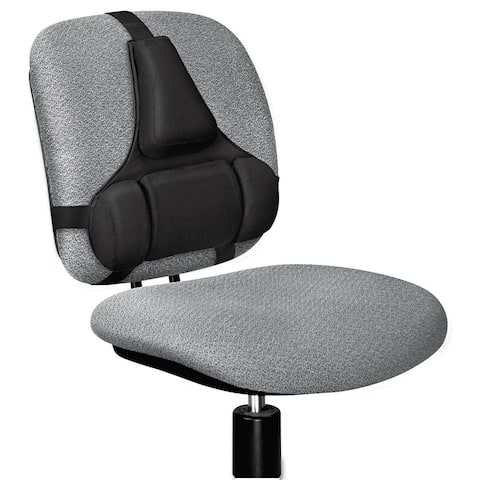 Fellowes Professional Series Back Support Memory Foam Cushion Black