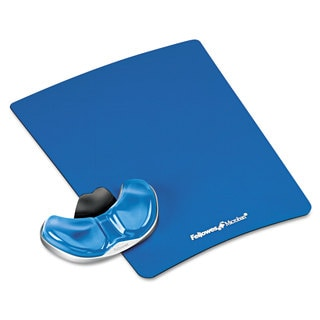 Fellowes Gel Gliding Palm Support with Mouse Pad Blue