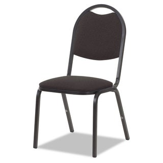 Virco 8917 Series Fabric Upholstered Stack Chair 18-inch wide x 22-inch deep x 35-1/2-inch high Black 4/Carton