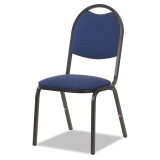 Virco Fabric Upholstered Stack Chair 18-inch wide x 22-inch deep x 35-1/2-inch high Sedona Blue/Black 4/Carton