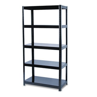 Safco Boltless Steel Shelving Five-Shelf 36-inch wide x 18-inch deep x 72-inch high Black