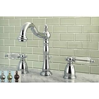 Victorian Crystal Widespread Bathroom Faucet