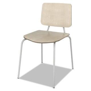Linea Italia Trento Line Sienna Stacking Wood Chair Oatmeal Stacks 6 High 2/Carton