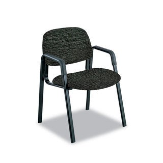 Safco Cava Urth Collection Straight Leg Guest Chair Black