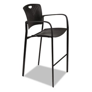BALT Oui Series Stacking Stool 23-inch wide x 23-1/2-inch deep x 44-3/4h Black