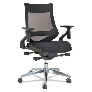 Alera EB-W Series Pivot Arm Multifunction Mesh Chair Black/Aluminum Frame