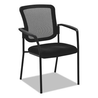 Alera Mesh Guest Stacking Chair Black