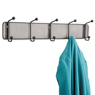 Safco Onyx Mesh Wall Racks 5 Hook Steel