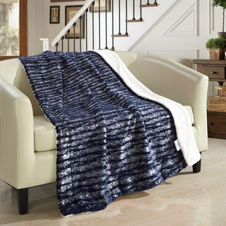 Chic Home Sechylles 50 x 60-inch Navy Throw