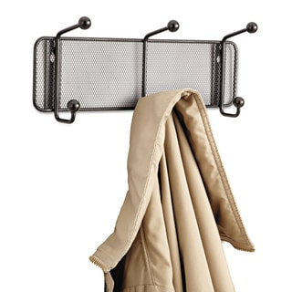 Safco Onyx Mesh Wall Racks 3 Hook Steel