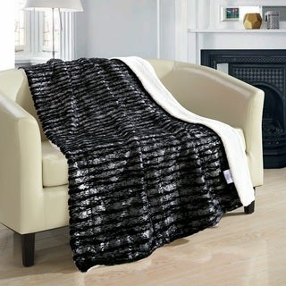 Chic Home Sechylles 50 x 60-inch Black Throw