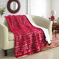 Chic Home  Sechylles Reversible Sherpa Red Throw