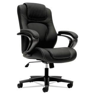 basyx VL402 Series Executive High-Back Chair Black Vinyl