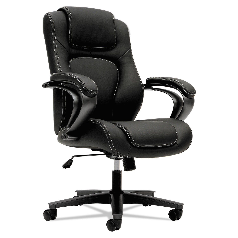 HON VL50 Series Executive High-Back Chair Black Vinyl