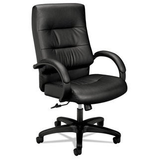 HON VL690 Series Executive High-Back Leather Chair Black Leather