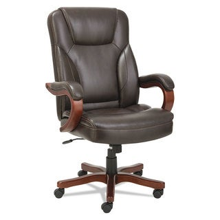 Alera Transitional Series Executive Wood Chair Chocolate Marble