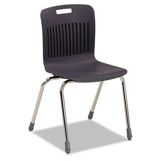 Virco Analogy Extra-Large Ergonomic Stack Chair Black/Chrome 4/Carton