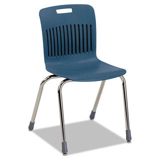 Virco Analogy Ergonomic Stack Chair Navy/Chrome 4/Carton