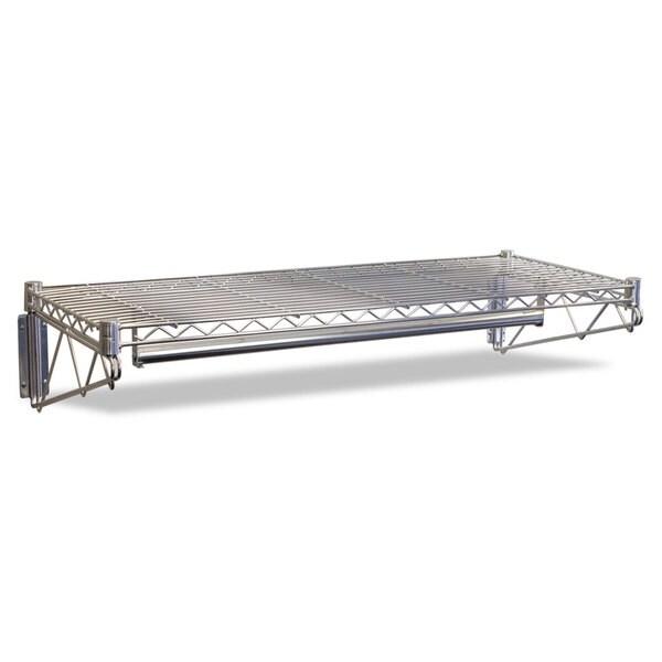 Shop Alera Steel Wire Wall Shelf Rack 48 Inch Wide X 18