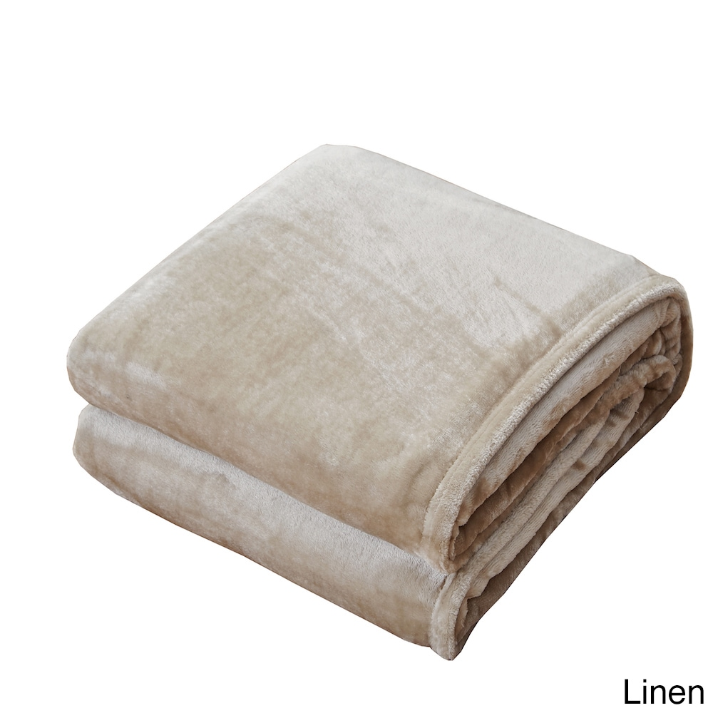 Comfortable Smooth & Supple Velvet Blanket (King-Linen), ...