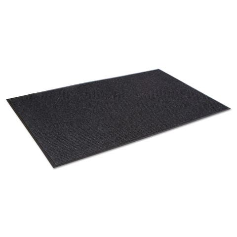Crown Needle-Rib Wiper/Scraper Mat Polypropylene 48 x 72 Charcoal