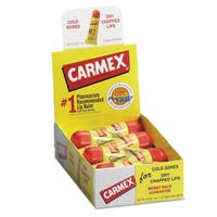 Carmex Moisturizing Lip Balm, Original Flavor, 0.35oz, 12/Box