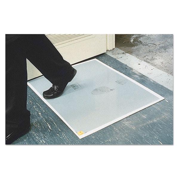 Crown Walk-N-Clean Dirt Grabber Mat 60-Sheet Refill Pad 30 x 24 Grey