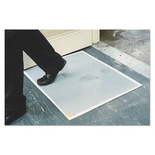 Crown Walk-N-Clean Dirt Grabber Mat 60-Sheet Refill Pad 30 x 24 Grey