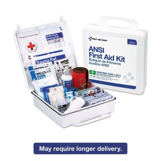 First Aid Only ANSI 2015 Compliant Class B Type III First Aid Kit for 50 People 199 Pieces