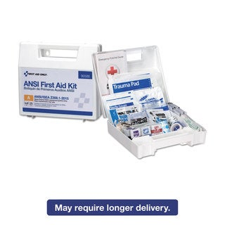 First Aid Only ANSI 2015 Compliant Class A Type I & II First Aid Kit for 25 People 89 Pieces