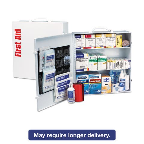 First Aid Only ANSI Compliant Class A+Type I Industrial First Aid Kit 100 People/683 Pieces