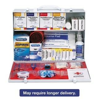 First Aid Only ANSI Compliant Class B+Type I & II Industrial First Aid Kit/75 People 437 Pieces