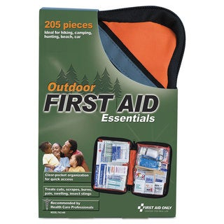 First Aid Only Outdoor Softsided First Aid Kit for 10 People 205 Pieces/Kit