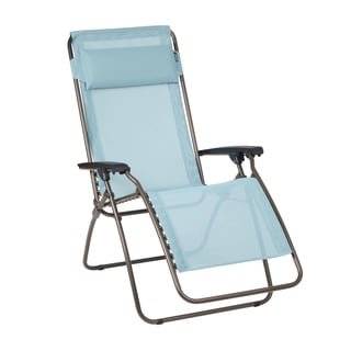 Lafuma R Clip Brown Steel Frame Zero Gravity Recliner with Arctic Batyline Fabric