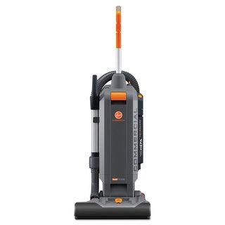 Hoover Commercial HushTone Vacuum Cleaner 15-inch Orange/Grey