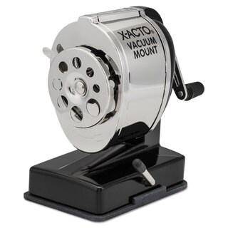 X-ACTO KS Manual Vacuum Mount Classroom Pencil Sharpener Black/Chrome