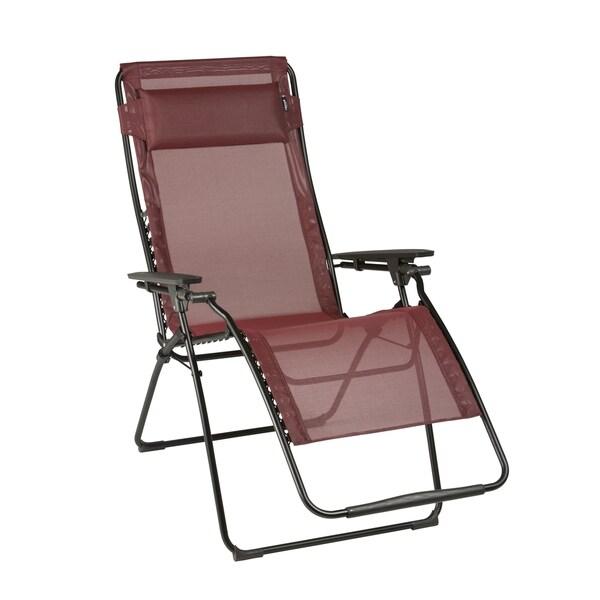 shop lafuma futura xl black steel frame zero gravity recliner with wood batyline duo fabric. Black Bedroom Furniture Sets. Home Design Ideas