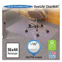ES Robbins EverLife Chair Mats For Medium Pile Carpet 36 x 48 Clear