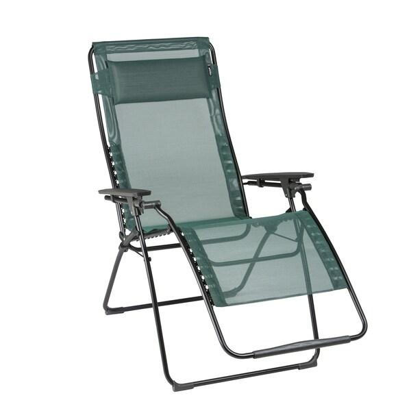 shop lafuma futura xl black steel frame zero gravity recliner with cedar batyline fabric free. Black Bedroom Furniture Sets. Home Design Ideas