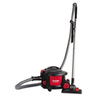 Sanitaire Quiet Clean Canister Vacuum Red/Black 9.0 Amp 11-inch Cleaning Path
