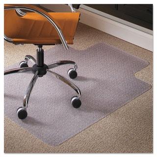 ES Robbins Natural Origins Chair Mat With Lip For Carpet 45 x 53 Clear
