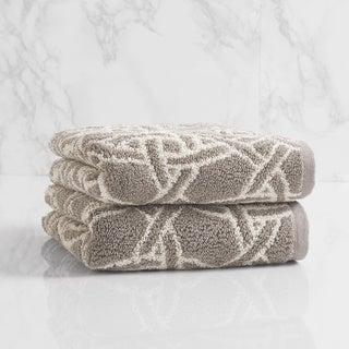 Natori Dynasty Medallion Jacquard Hand Towel (set of 2)